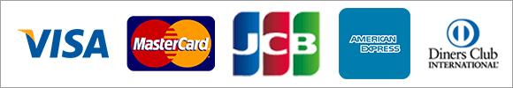 支払方法はVISA MasterCard JCB DinersClub対応